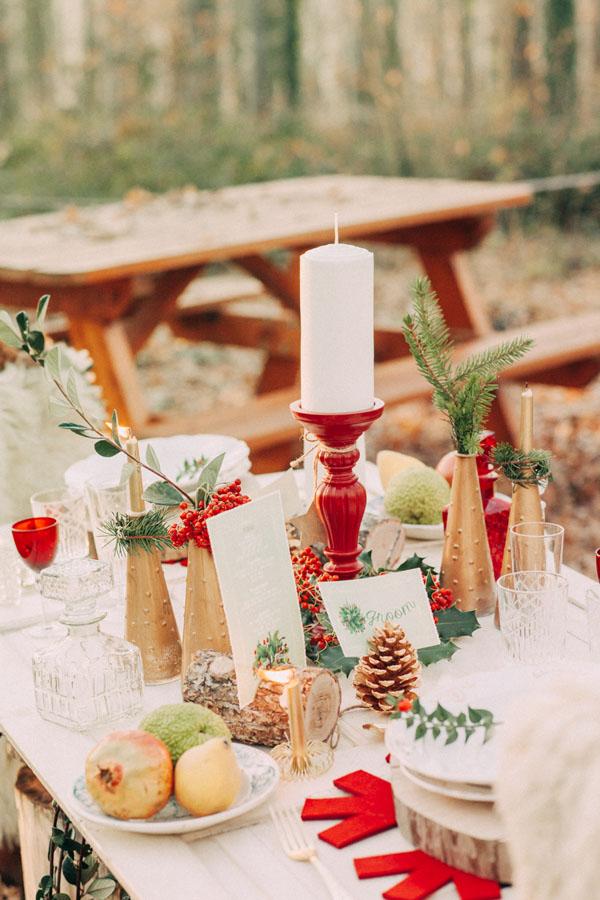 Matrimonio In Un Bosco : Inspiration un matrimonio natalizio nel bosco wedding