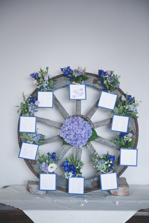Tableau Matrimonio Azzurro : Azzurro e viola per un matrimonio country wedding wonderland