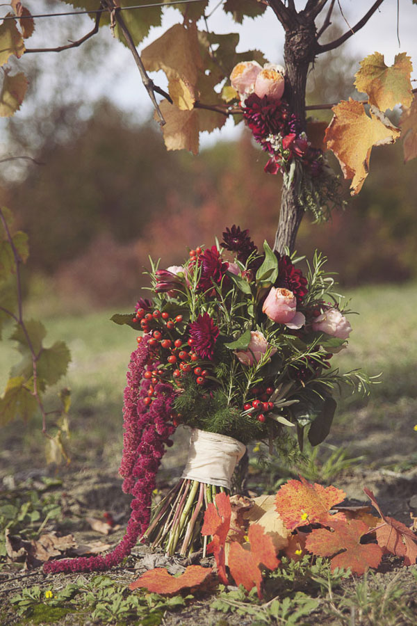 bouquet autunnale boho chic