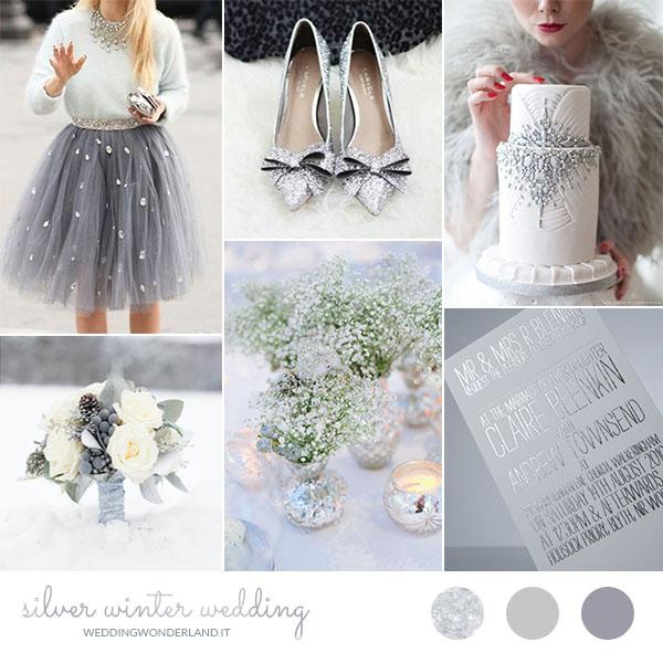 matrimonio invernale argento