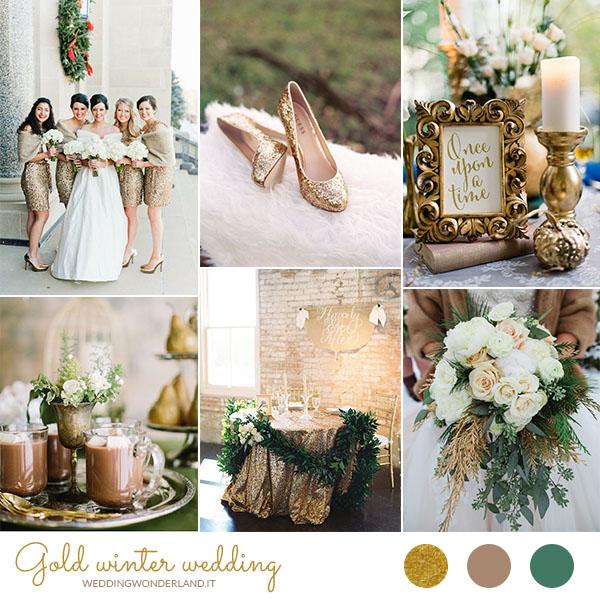 Matrimonio In Inverno : Oro per un matrimonio invernale wedding wonderland