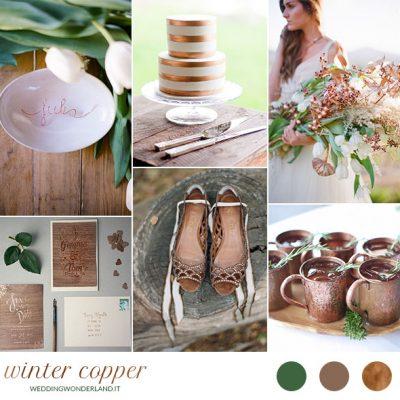 Rame per un matrimonio invernale