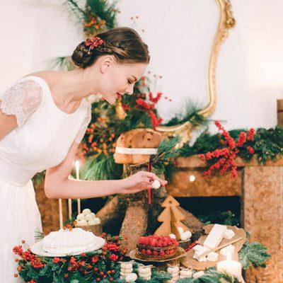 Inspiration: Un matrimonio rustico e natalizio