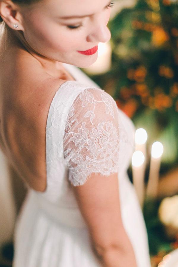 sposa con rossetto rosso