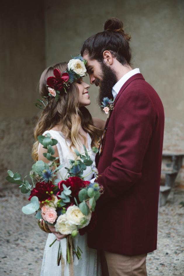 matrimonio boho chic marsala