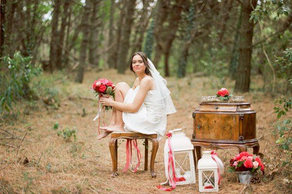 Inspiration: Matrimonio romantico e retrò in pineta