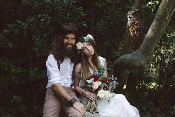 matrimonio vintage bohemien marsala-03