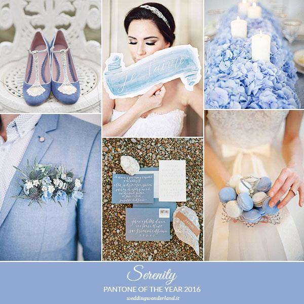 Matrimonio Azzurro Serenity : Inspiration board serenity pantone dell anno