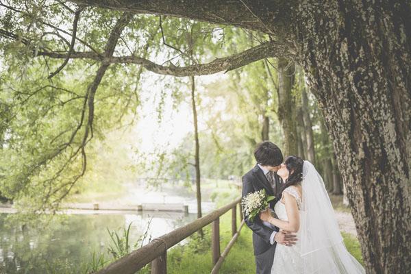 matrimonio handmade bianco e verde-13