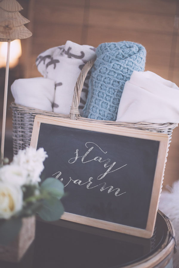 coperte per un matrimonio invernale