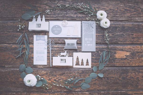 partecipazioni matrimonio invernale