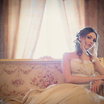 Una bridal session in oro e champagne