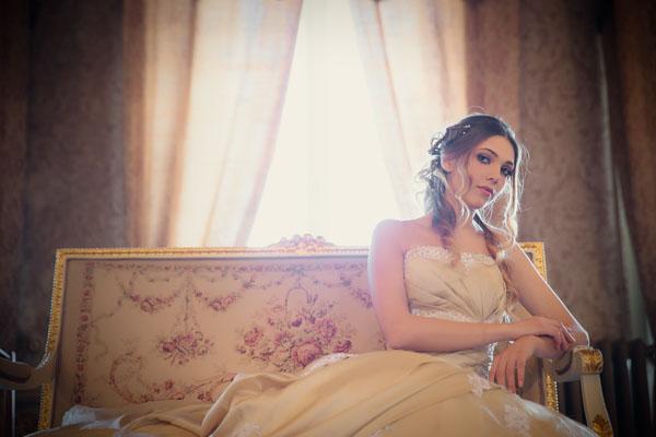 Una bridal session in oro e champagne