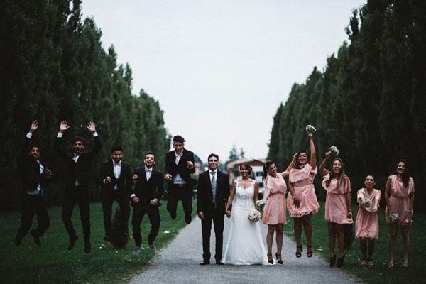 Un matrimonio romantico in rosa antico