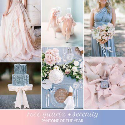Inspiration board: Rose Quartz + Serenity – Pantone dell'anno 2016