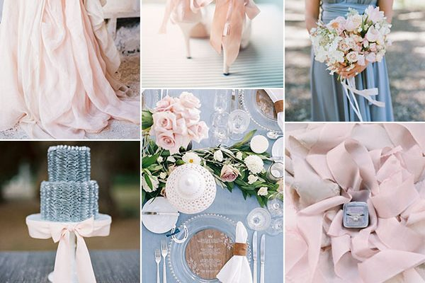 Inspiration board: Rose Quartz + Serenity – Pantone dell'anno 2016