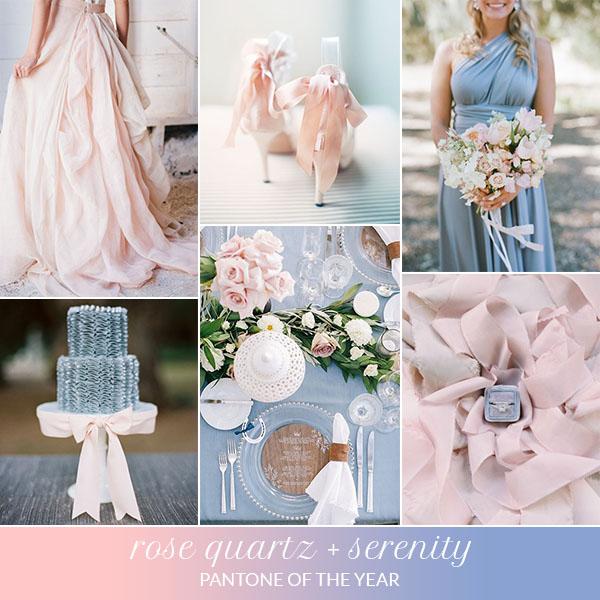 matrimonio rose quartz e serenity | pantone dell'anno 2016