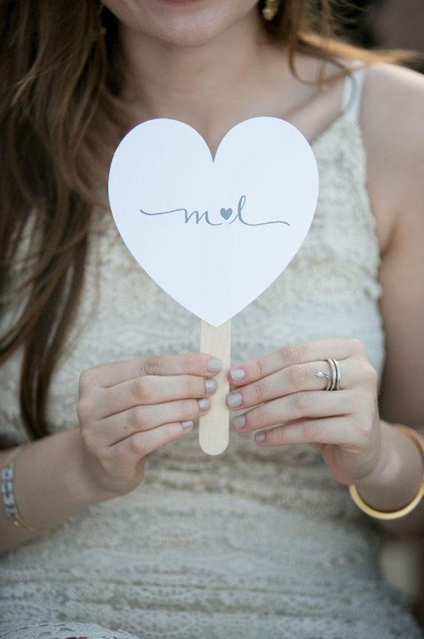 ventaglio matrimonio a forma di cuore