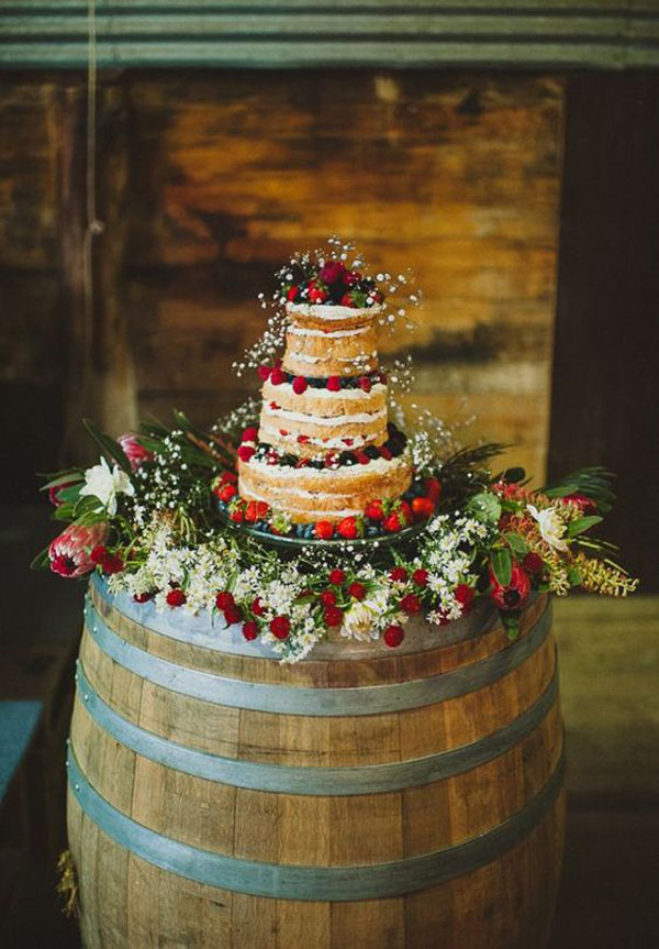 botte di vino e wedding cake