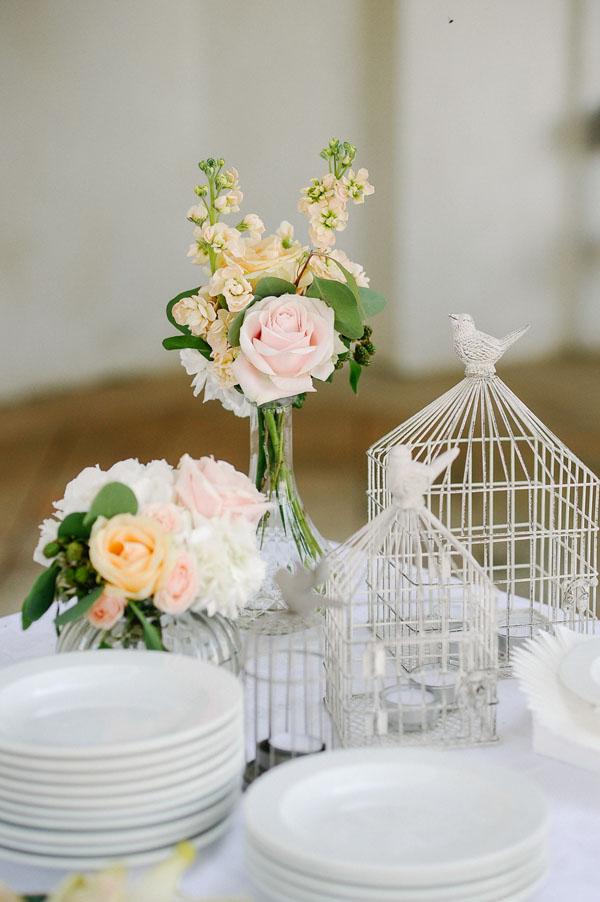 fiori matrimonio rosa, pesca e bianchi