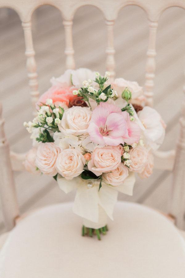 bouquet shabby chic rosa e bianco