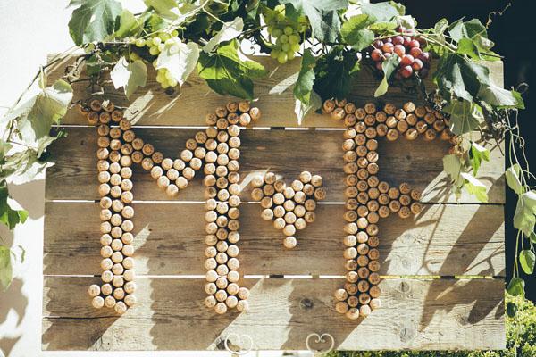 Un matrimonio ispirato al vino e all'uva
