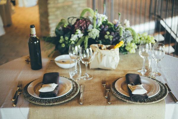 Un matrimonio ispirato al vino e all 39 uva wedding wonderland - Addobbi tavoli per 18 anni ...