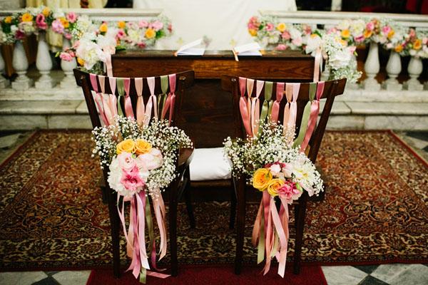 Pompon colorati per un matrimonio a Sanremo