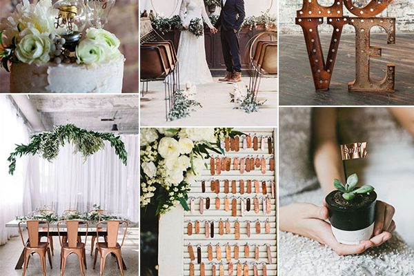 Inspiration board: Un matrimonio industriale in rame