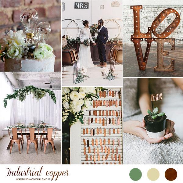 Matrimonio Tema Industriale : Inspiration board un matrimonio industriale in rame