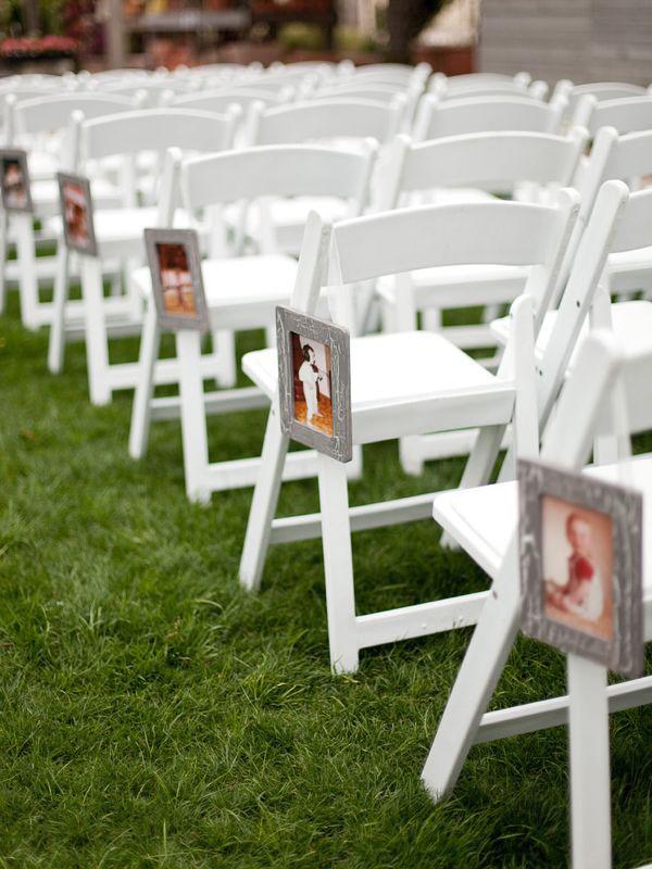 allestimento cerimonia con foto degli sposi