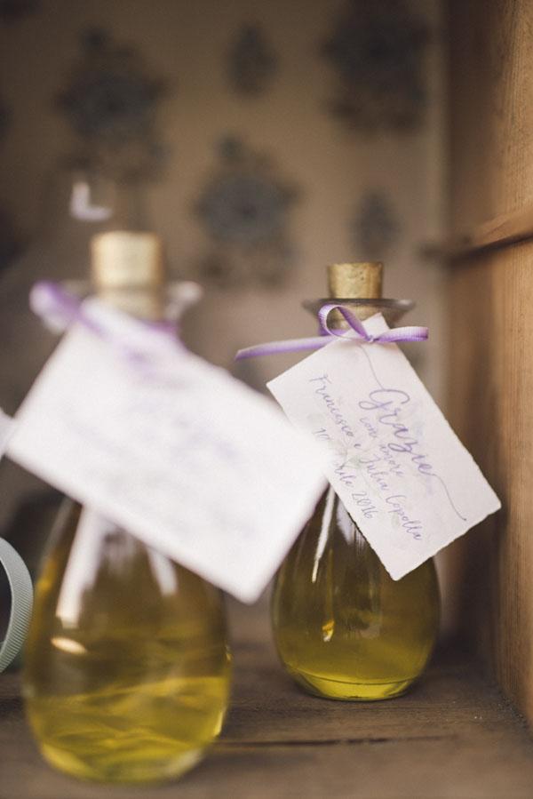 olio di oliva come bomboniera