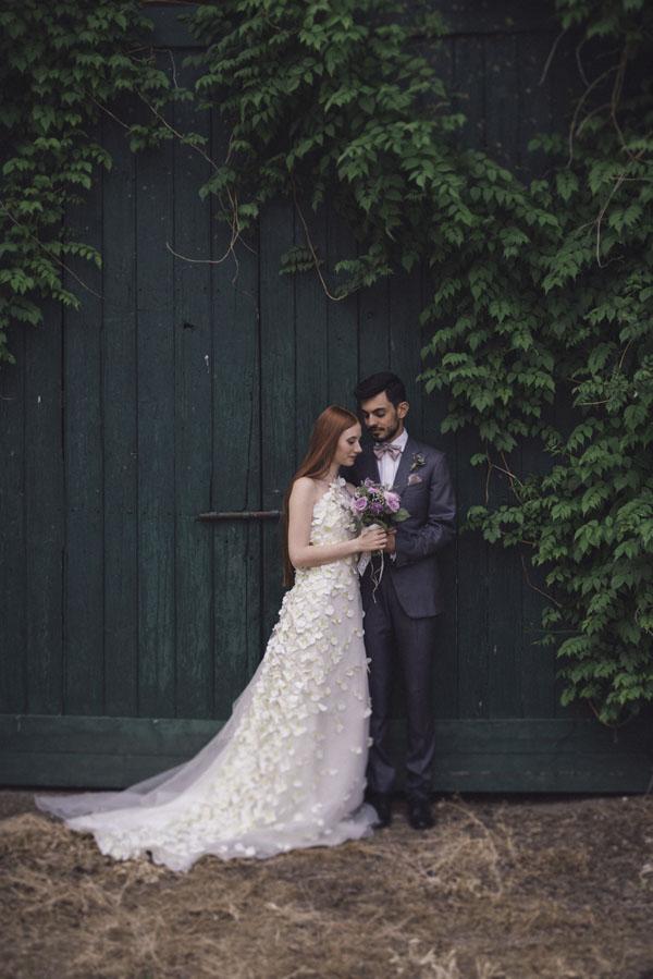 matrimonio lilla e verde
