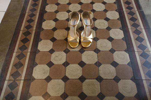 sandali da sposa oro