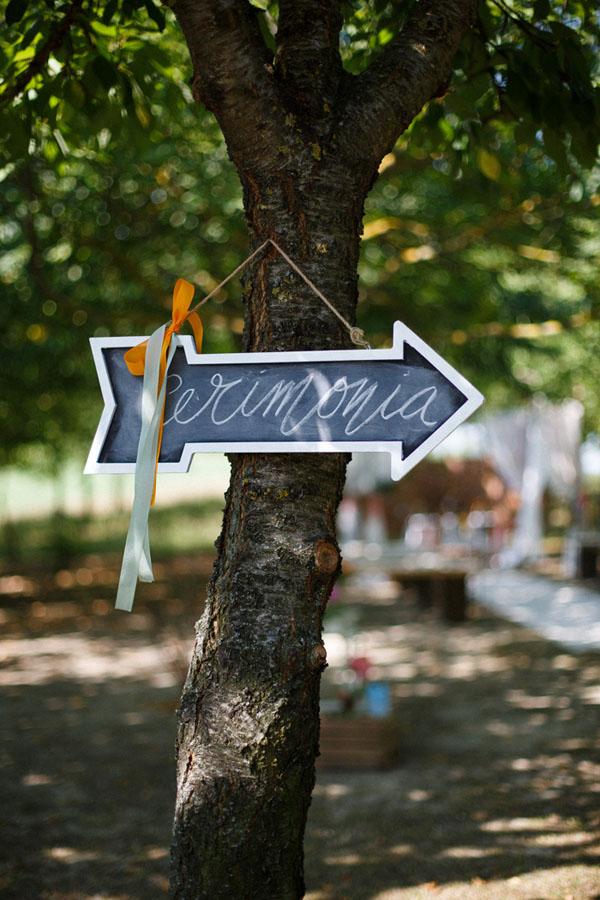 cartello cerimonia effetto lavagna