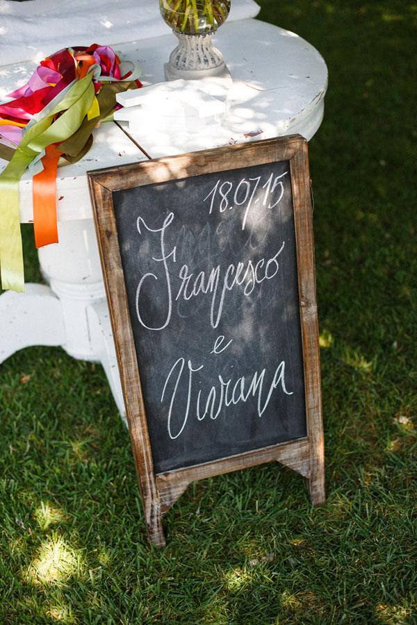 lavagna come cartello matrimonio