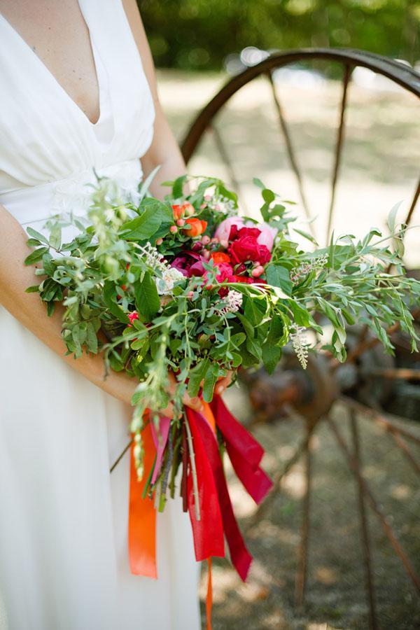 bouquet organico e colorato