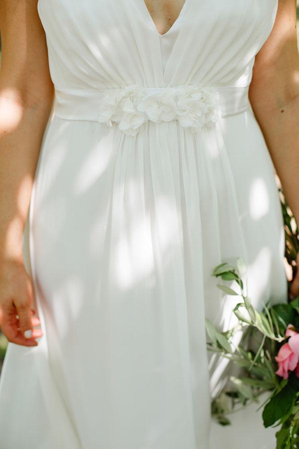 abito da sposa ispirato alla grecia