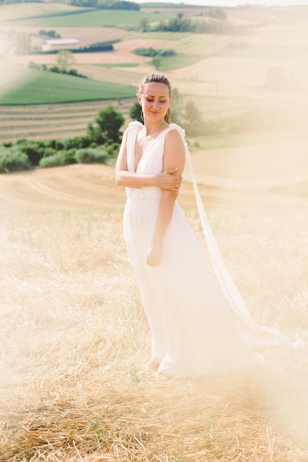 abito da sposa bohémien