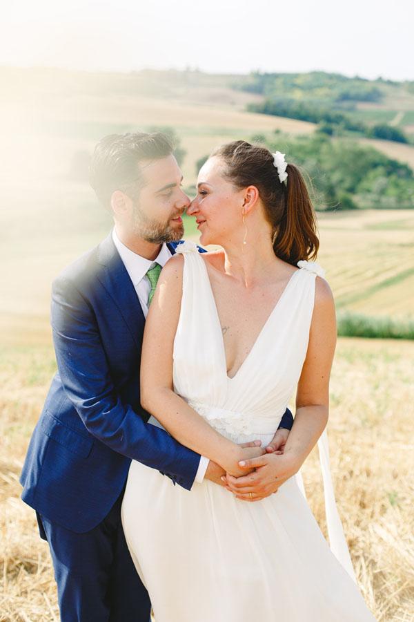 abito da sposa ispirato al peplo greco