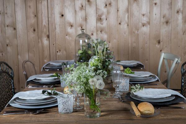 tavola matrimonio eco-chic