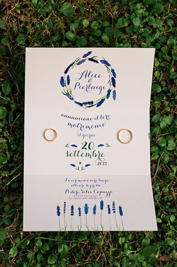 partecipazioni matrimonio country blu e verdi