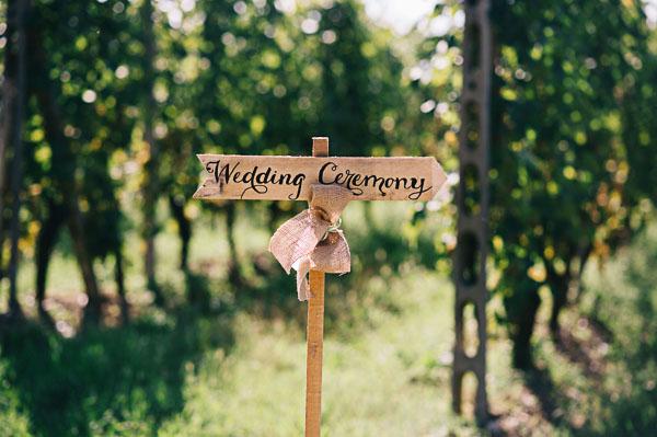 cartello cerimonia in legno