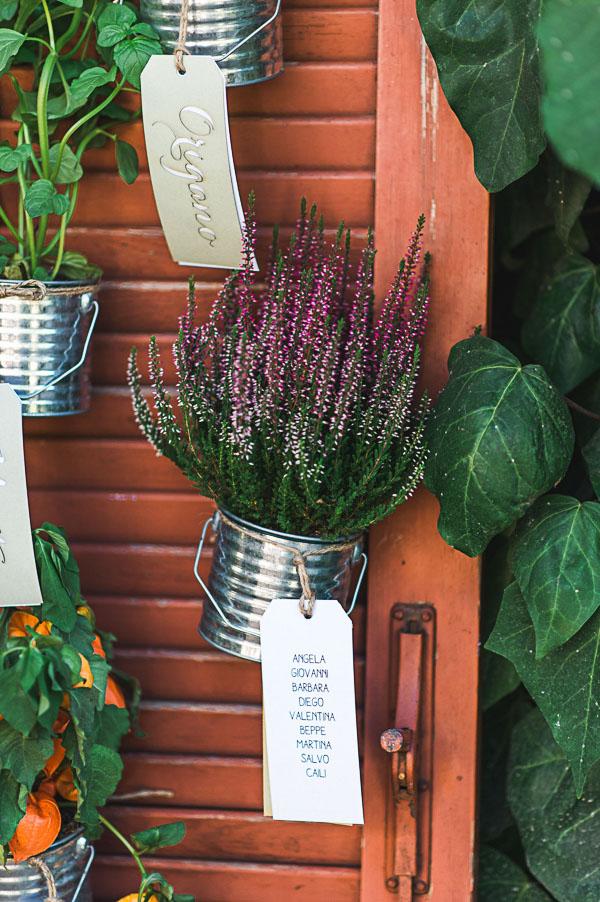tableau de mariage con piante
