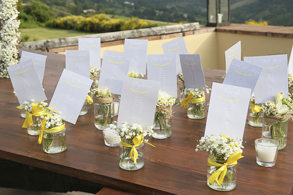Tableau Matrimonio Rustico : Un matrimonio rustico in giallo wedding wonderland