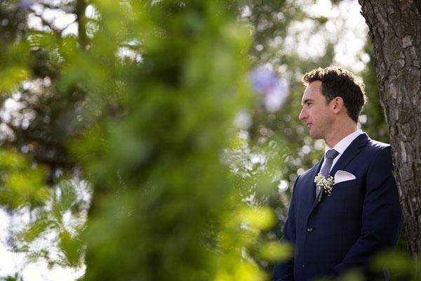 sposo con completo blu