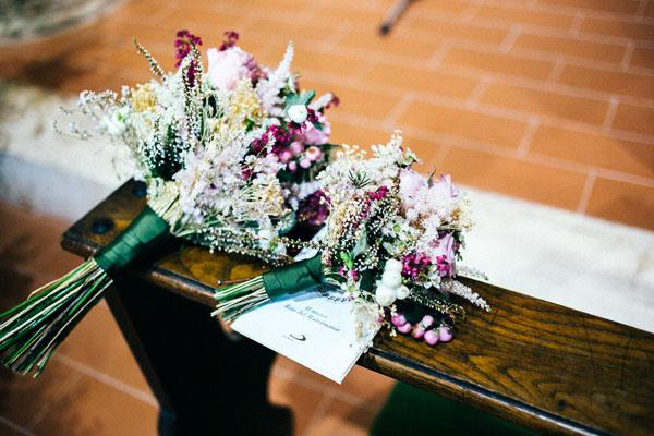 bouquet rosa e magenta autunnale