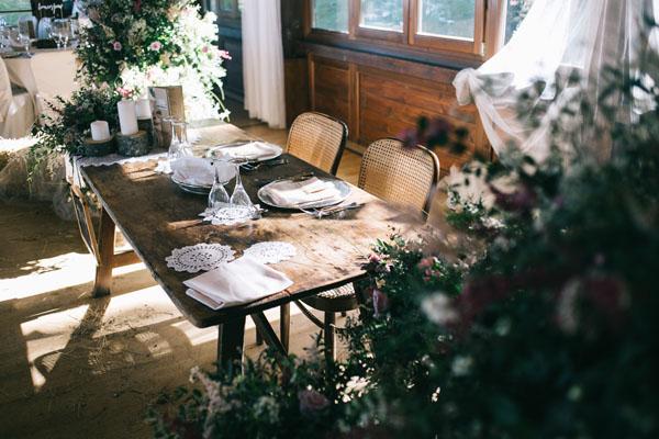 tavolo sposi rustico