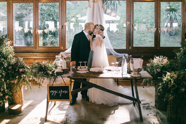 tavolo rustico sposi