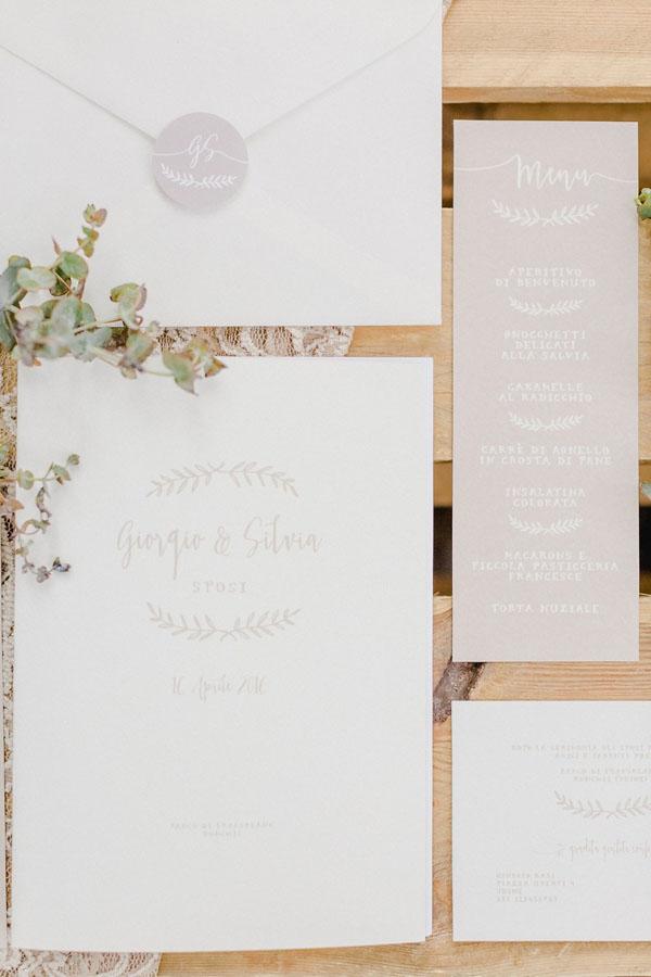 partecipazioni matrimonio boho vintage
